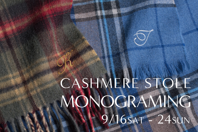 CASHMERE STOLE MONOGRAMING - 23区