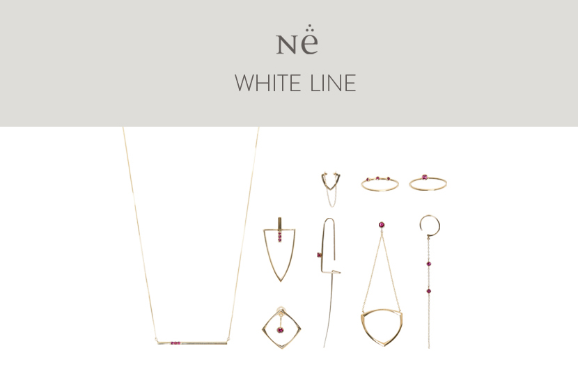 〈N.e White Line〉 LIMITED FOR ONWARD CROSSET - N.e